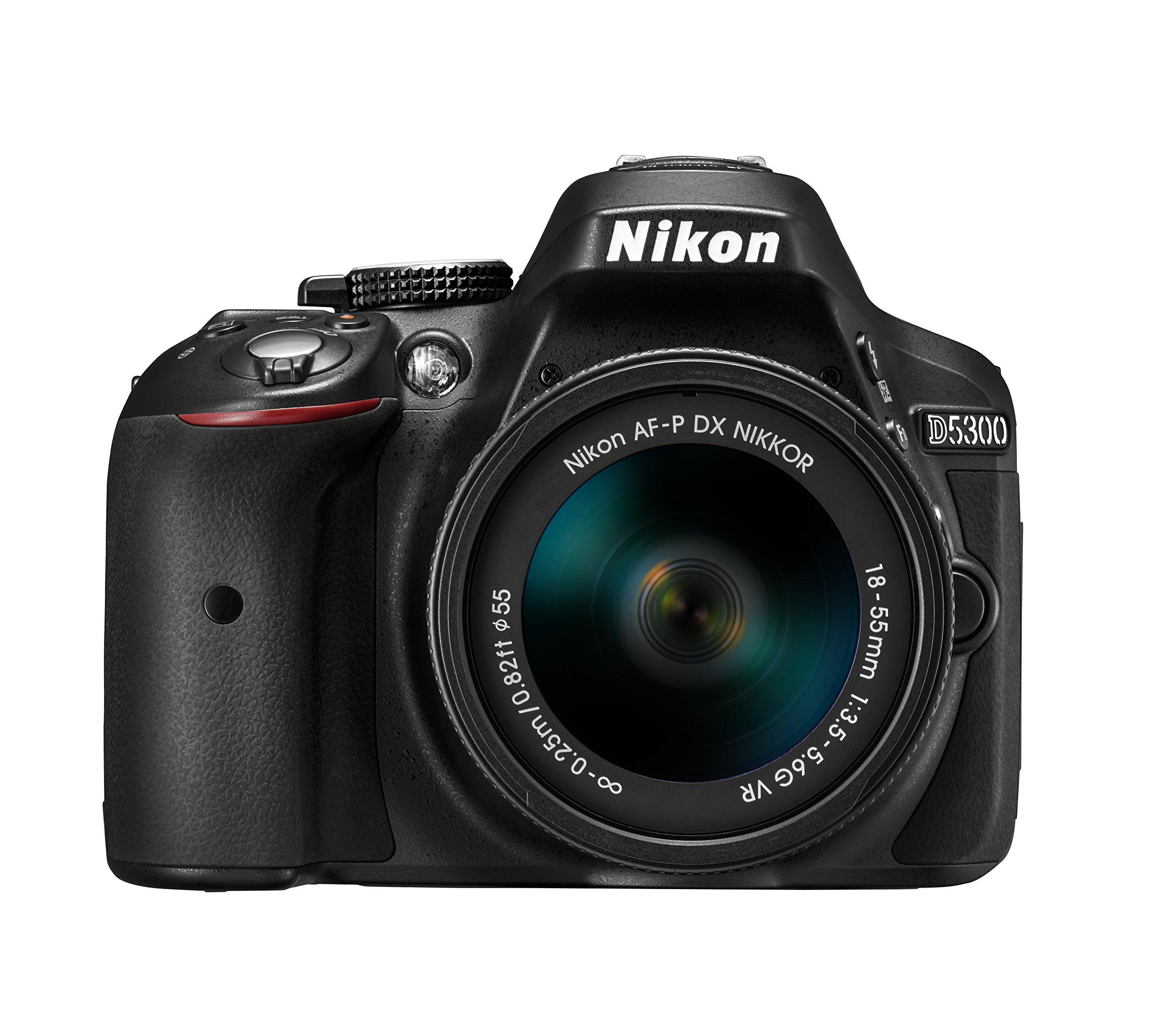 Nikon デジタル一眼レフカメラ D5300 AF-P 18-55 VR レンズキット ブラック D5300LKP18-55 product image