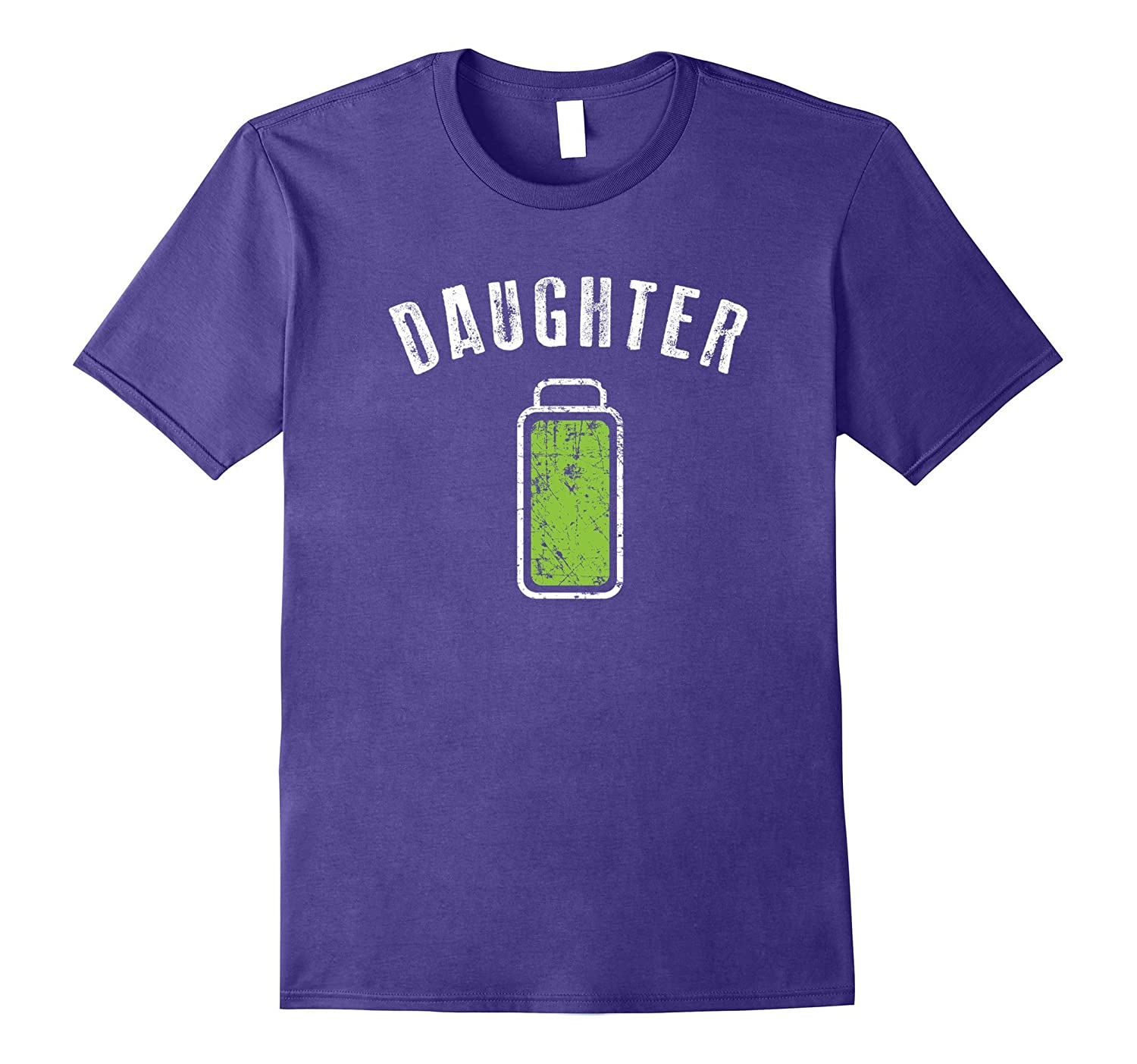 Daughter Full Battery Shirt Matching Mommy Mothers Day Gift-Vaci