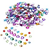 Outus 500 Pieces 5 to 8 mm Acrylic Craft Jewels Gems Gemstone Embellishments, Assorted Colors