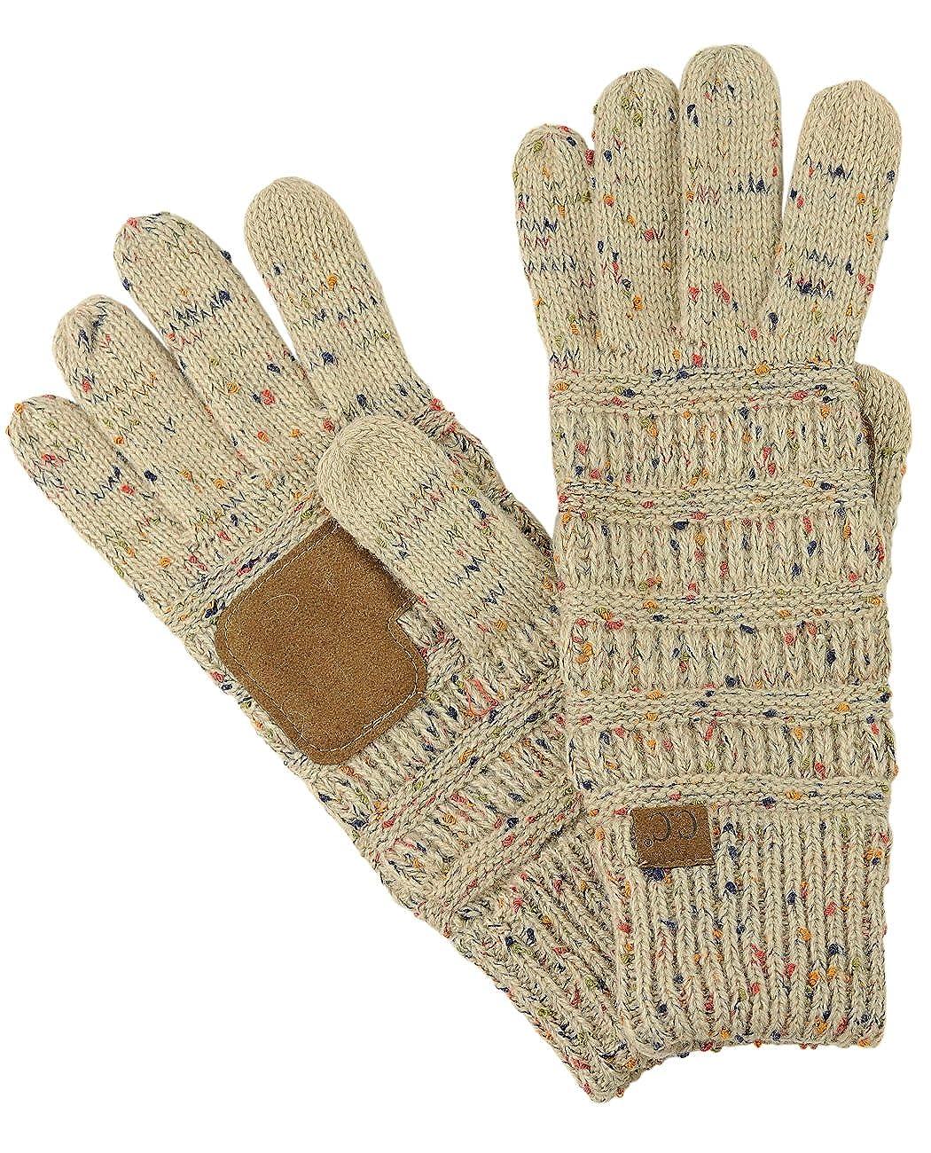 961cb7d9d1de0 C.C Unisex Cable Knit Winter Warm Anti-Slip Touchscreen Texting Gloves