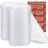 Switory 305mmx22m Bubble Wrap voor Bewegend Huis, Bubble Rolls met 20 Extra breekbare Stickers, Geperforeerde Easy…