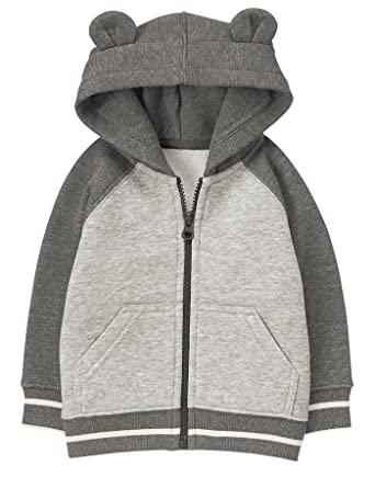 264ca7260 Amazon.com  Gymboree Baby Boys Quilted Bear Zip Hoodie  Clothing