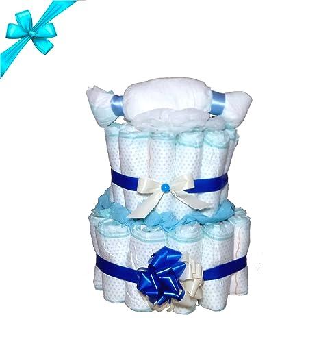 Bonito pañales para tartas Azul para niño – El regalo regalo para nacimiento, bautismo O