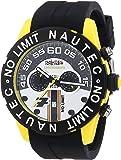 Nautec No Limit Herren-Armbanduhr XL Zero-Yon 2 Chronograph Quarz Kautschuk ZY2-7 QZ/RBPCBKBK-YL