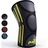 PURE SUPPORT Knee Brace Sleeve with Best Patella Compression for Meniscus Tear & Arthritis – Ideal for Running, Sports and Daily Activities for Women, Men and Kids