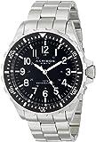 Akribos XXIV Men's AK689BK Essential Swiss Quartz Black Dial Stainless Steel Bracelet Watch