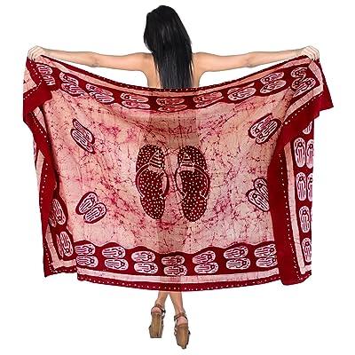 *La Leela* batik coton jupe taille plus maillots de bain bikini de tourbillonnement des femmes couvrir robe paréo