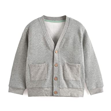 d8995a0acd62 Amazon.com  Aimama Toddler Boys Knit Cardigan V-Neck Long Sleeves ...