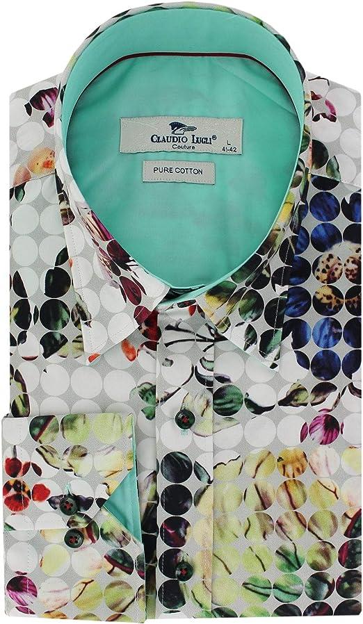 Claudio Lugli - Camisa para hombre, diseño de lunares ...