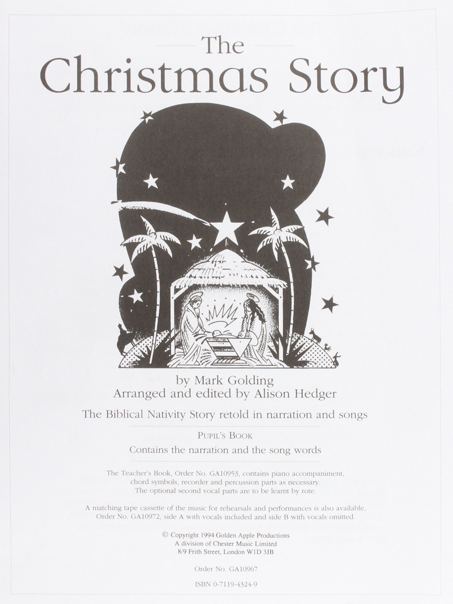 Download Mark Golding: The Christmas Story (Pupil's Book) pdf