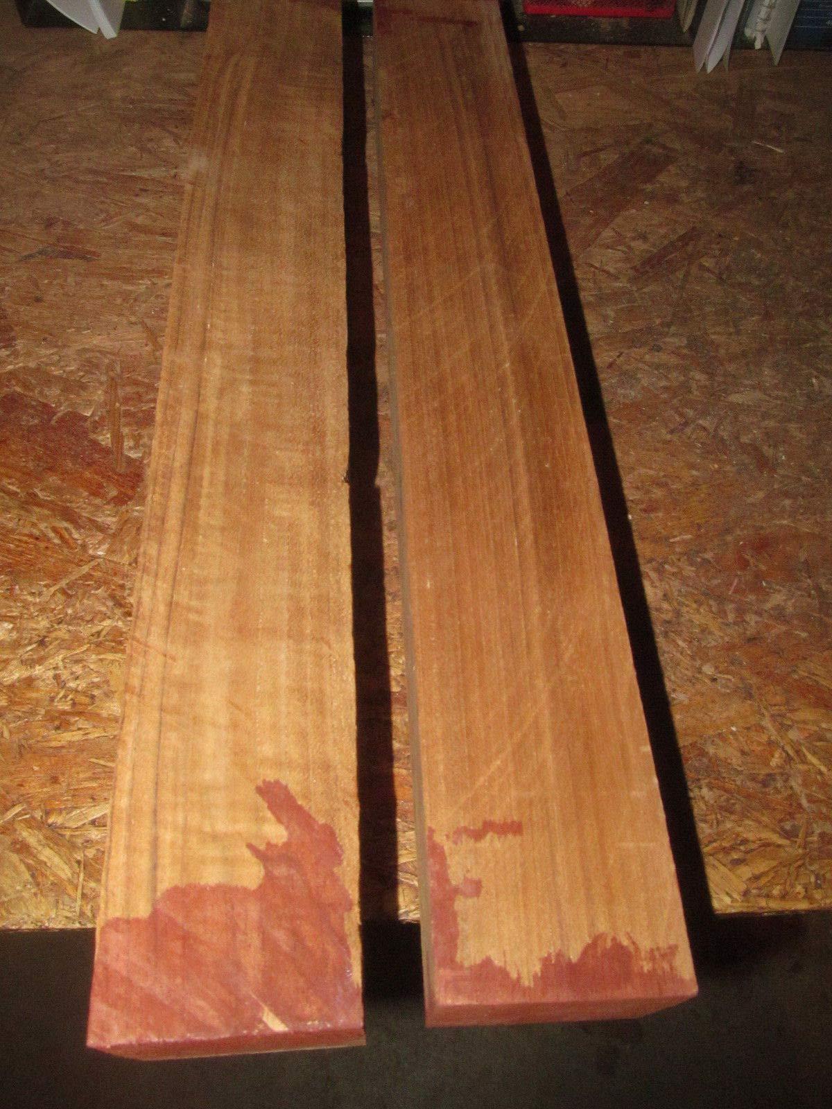 Two (2) FEQ Teak Turning Blank Lathe Block Carve Wood Lumber 2 1/2 X 2 1/2 X 19'' by Lotus energy (Image #1)