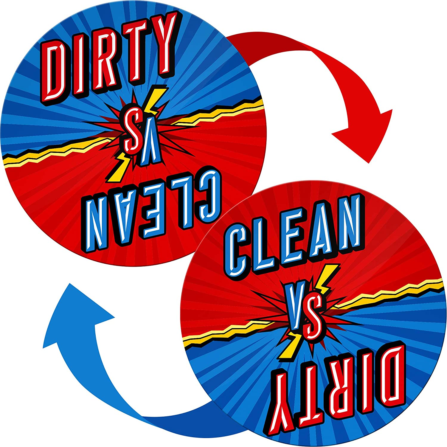 Clean Dirty Dishwasher Magnet Funny Comics Sign - Gifts for Grandma from Grandchildren, Great as Gifts for Mom from Son and Daughter - Housewarming Gifts New Home - Dishwasher Magnet Clean Dirty Funny