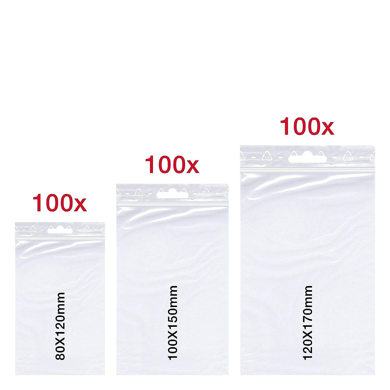 100 DRUCKVERSCHLUSSBEUTEL 100x150 MM  QUALITÄT 50 MY