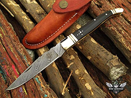 Amazon.com: TNZ-59 USA Damasco Cuchillo 4 en hoja en 7 oz ...