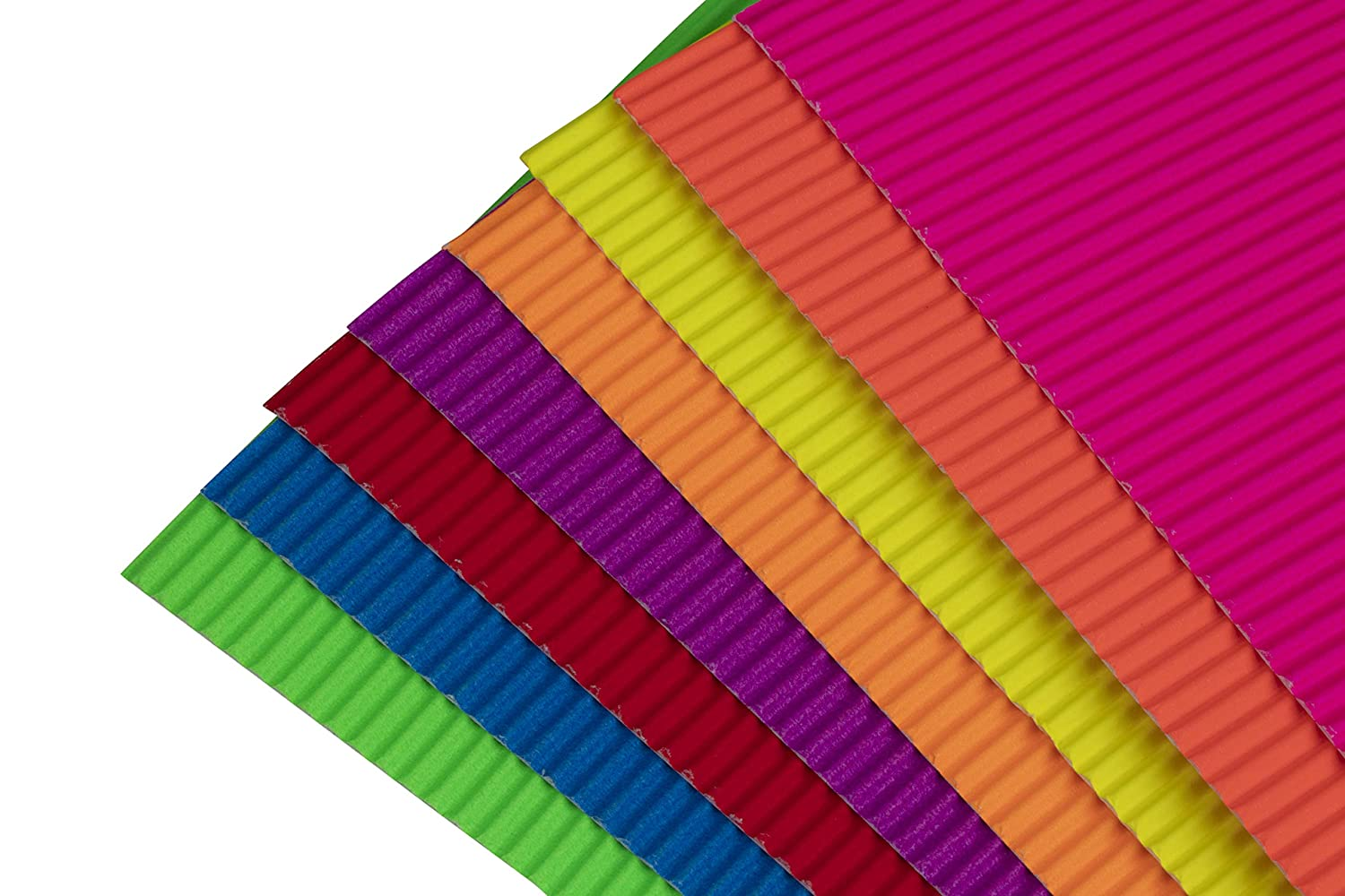 8 Assorted Colors 64-Pack Colored Corrugated Paper Corrugated Cardboard Sheets 8.25 x 11.75 Inches Corrugated Cardstock for DIY Arts and Crafts Projects Scrapbooking