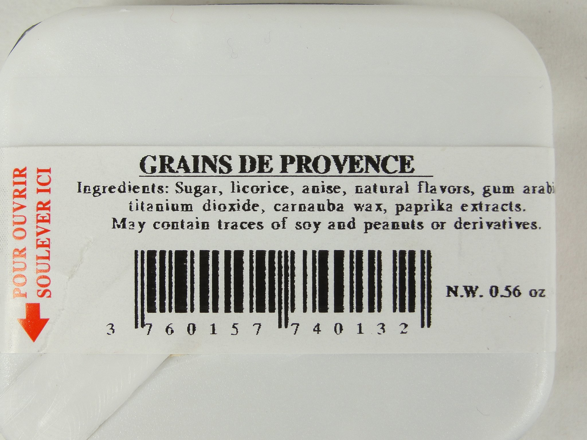 Provence Grains Licorice Flavored Drops Candy Pastilles From France (3 Pack)