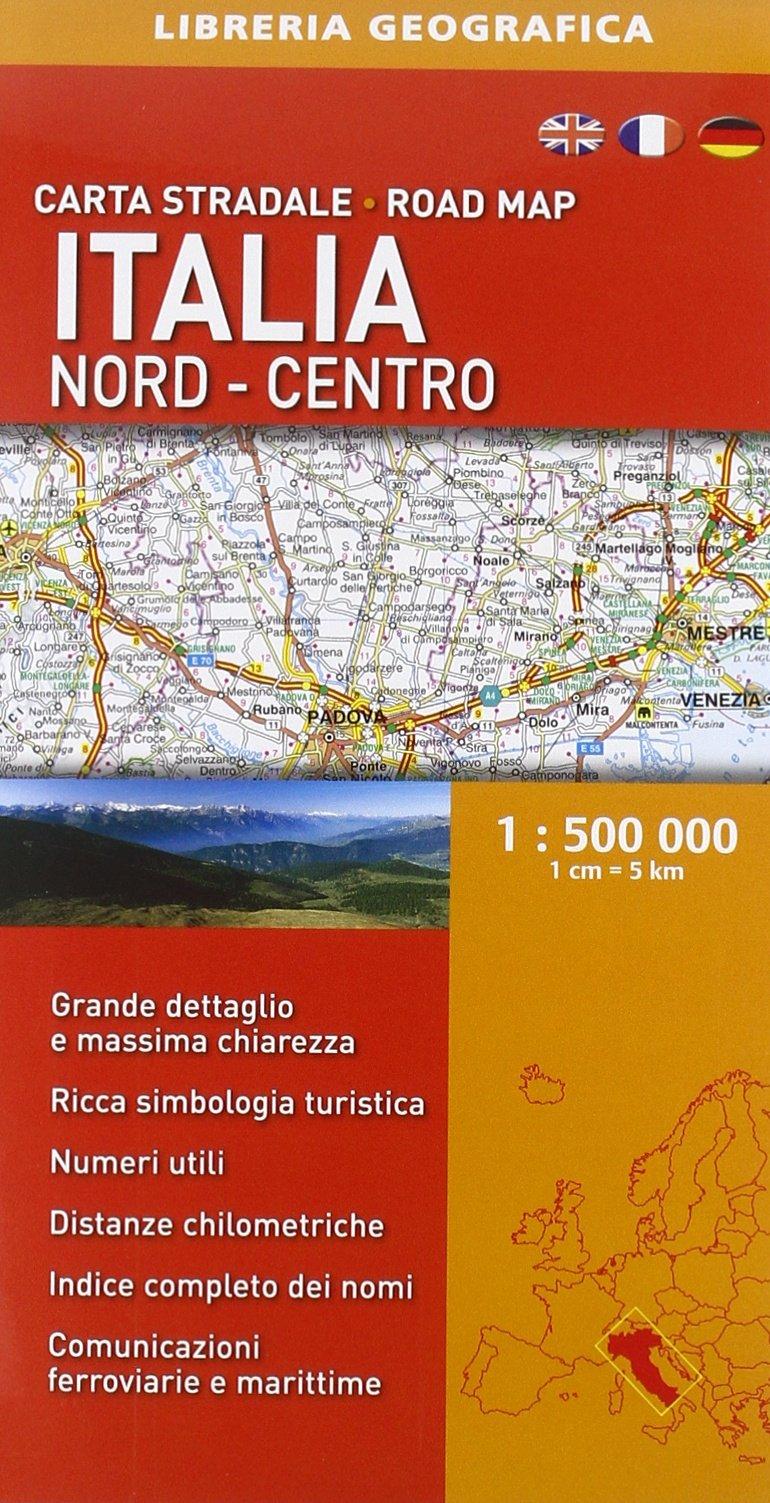 Cartina Stradale Italia Centro Nord.Amazon It Carta Stradale Italia Nord Centro 1 500 000 Av Vv Libri