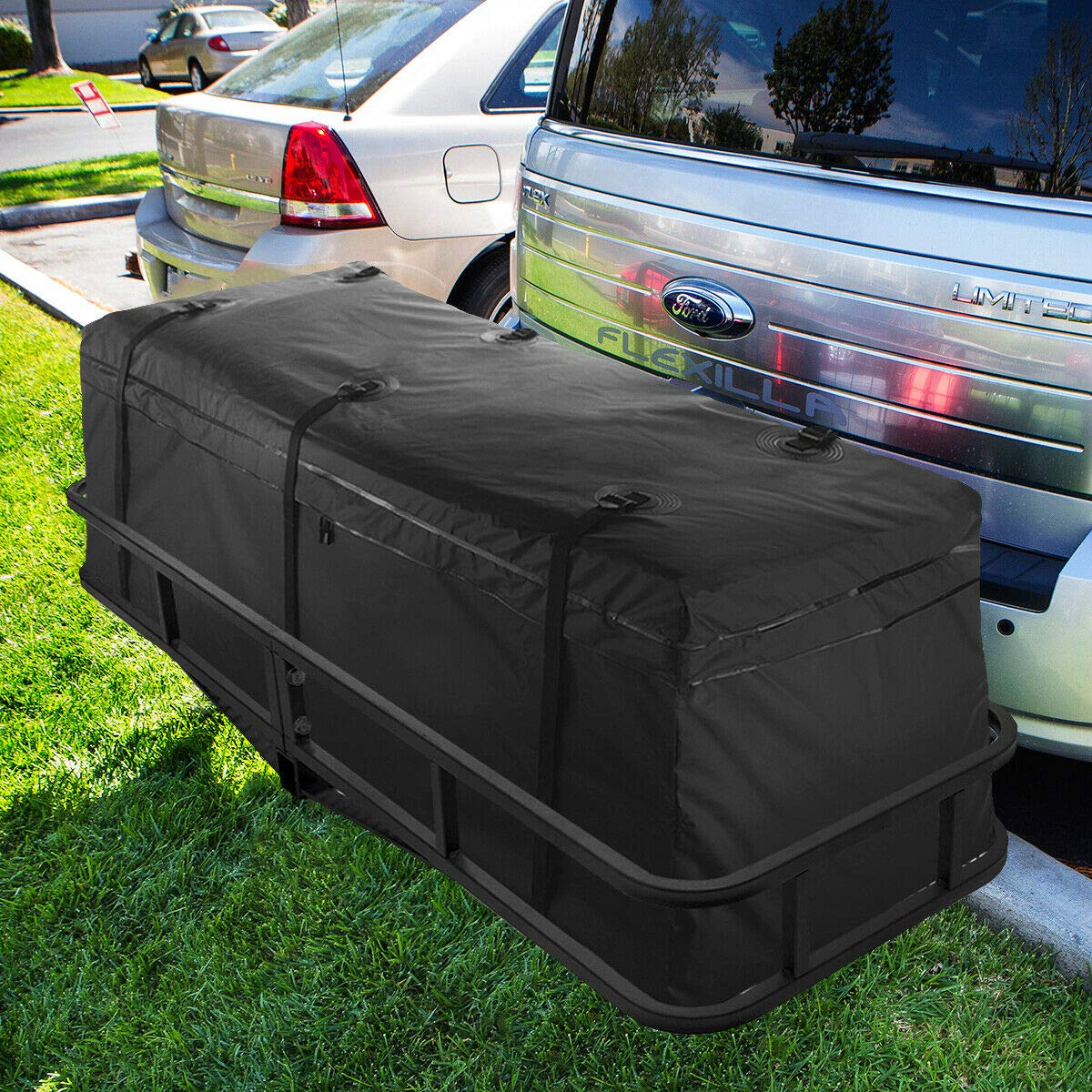 9TRADING 60'' Cargo Hauler Carrier Hitch Mounted Receiver Luggage Basket with Bag Set by 9TRADING