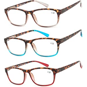 7234ee0adefb Reading Glasses 3 Pair Great Value Stylish Readers Fashion Men and Women  Glasses for Reading