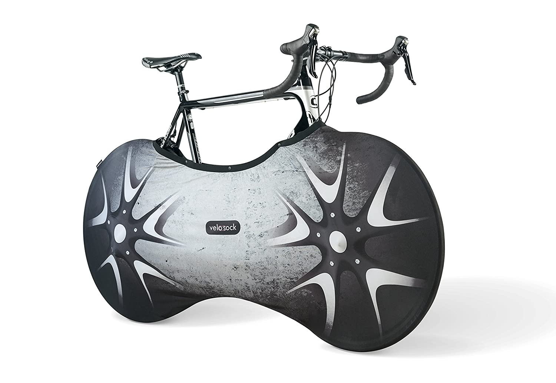VELOSOCK 自転車カバー 屋内収納用 - SILVERBIRD PROエディション 便利なスナップファスナー付き - 床や壁を汚れから守る - すべての大人用自転車に99%フィット   B0789L9N6M