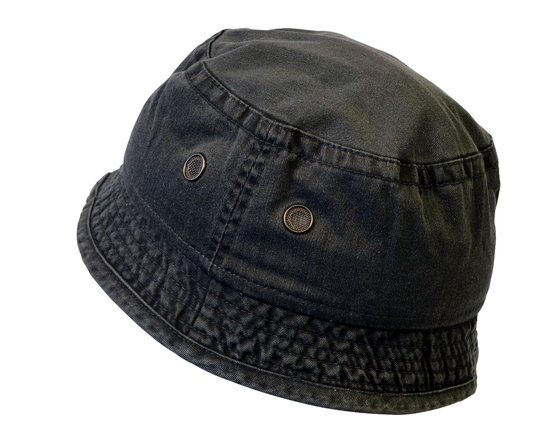 7c776b3f0b2 KC Caps Unisex Youth Washed Cotton Fun Denim Bucket Hat for Boys Girls   Amazon.ca  Clothing   Accessories