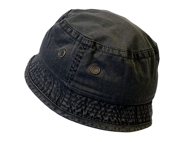 e914a7f93b9 Image Unavailable. Image not available for. Color  KC Caps Unisex Youth  Washed Cotton Fun Denim Bucket ...
