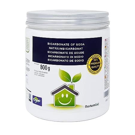 NortemBio Bicarbonato de Sodio 800g, Insumo Ecológico de Origen ...