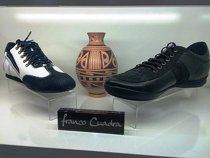 Zapatos de Caballero en Piel de Ternera y Cocodrilo Franco Cuadra: Amazon.es: Zapatos y complementos