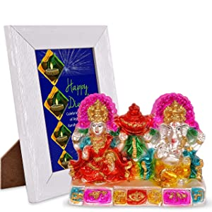 Celebrate This Festival of Lights with Your Family Laxmi Ganesha & Quotation Photo Frame Hamper