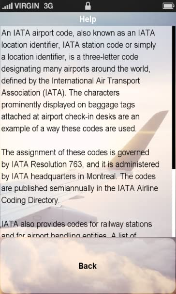 airport codes list