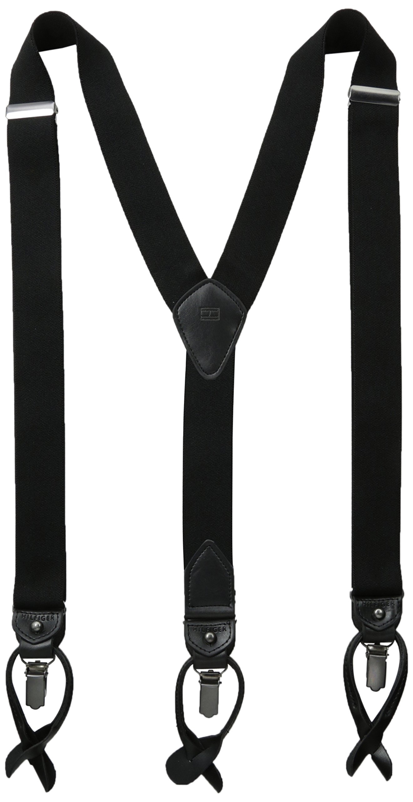 Tommy Hilfiger Men's 32mm Suspenders,Black,One Size