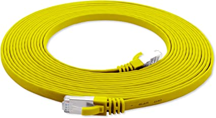 3m - CAT7 Cable de Red Plano Amarillo: Amazon.es: Electrónica