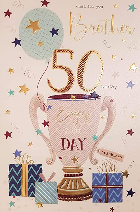 Brother 50th Birthday Card Amazoncouk Kitchen Home