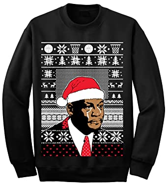 0d2c074ae33 Amazon.com  YM Wear Adult Jordan Crying Meme Ugly Christmas Sweater  Sweatshirt  Clothing