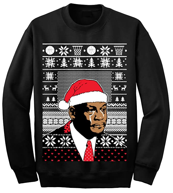 Adult Jordan Crying Meme Ugly Christmas Sweater Sweatshirt at ...