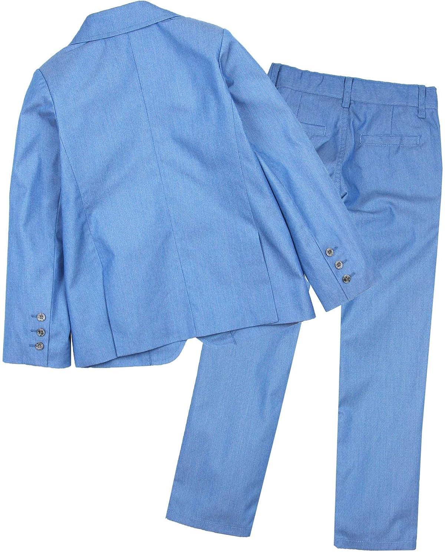 Sizes 5-10 Deux par Deux Boys Blue Jacket and Pants Cool Class