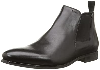 f3021fc707364 Geox Mens U Albert 2Fit I Leather Chelsea Boots (41 EU 8 M US