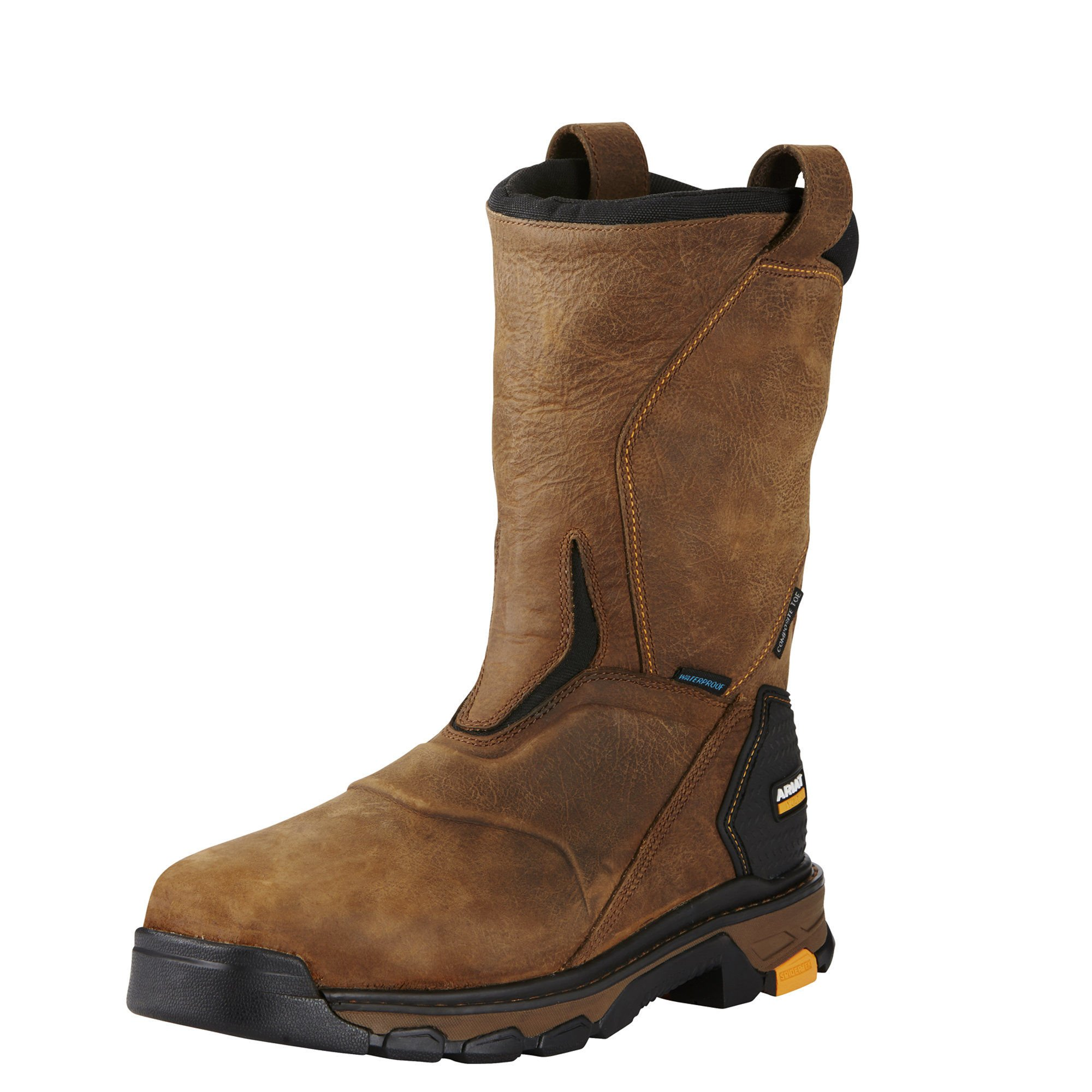 Ariat Work Men's Intrepid Pull-On H2O Composite Toe Work Boot, Rye Brown, 9 D US