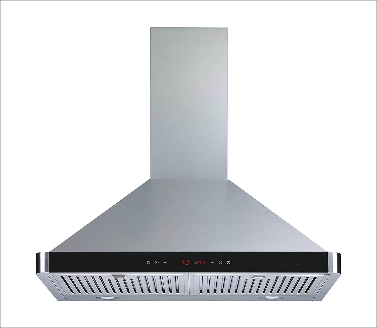 Winflo 30 Wall Mount Stainless Steel Convertible Kitchen Range Hood with 450 CFM Air Flow, Touch Control, Stainless Steel Baffle Filters and Ultra Bright LED Lights Winslyn W103B30D