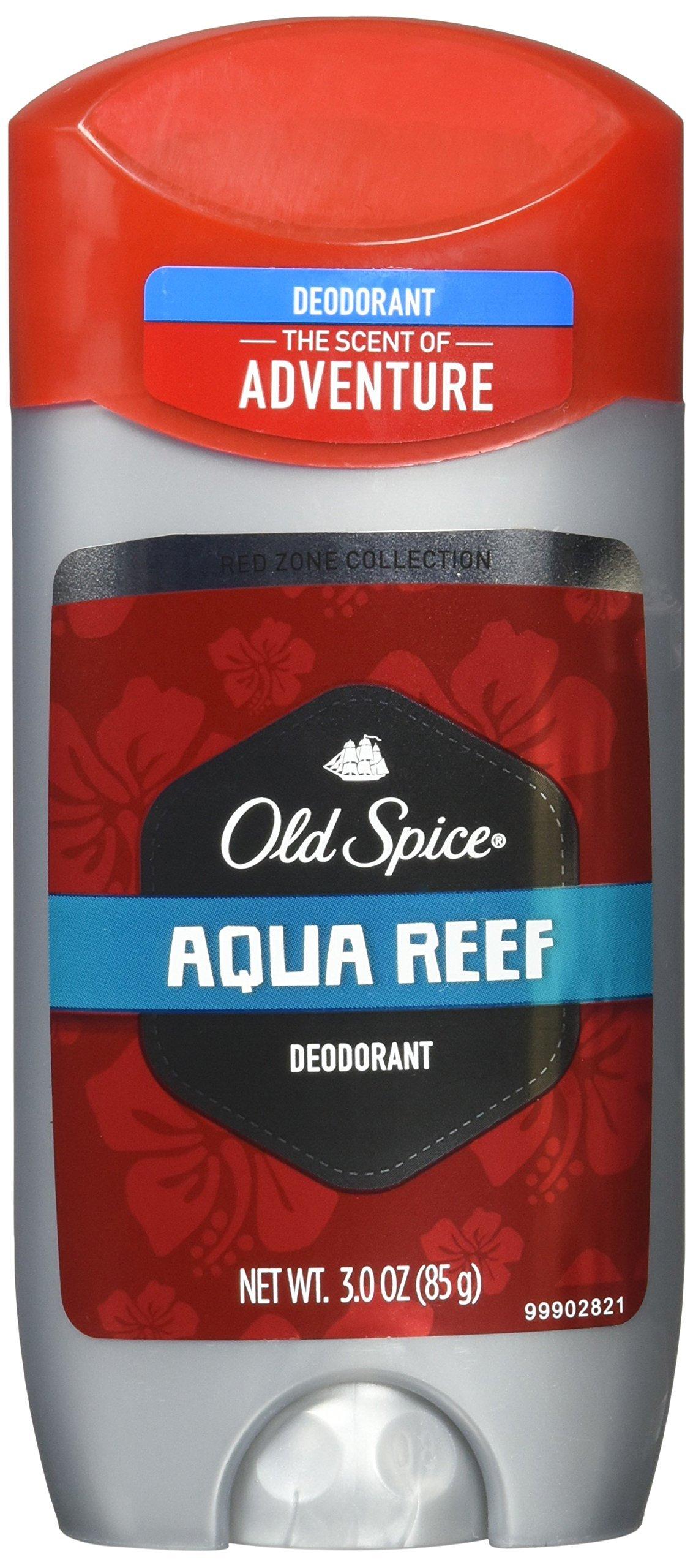 Old Spice Red Zone Deodorant, Aqua Reef - 3 oz - 2 pk