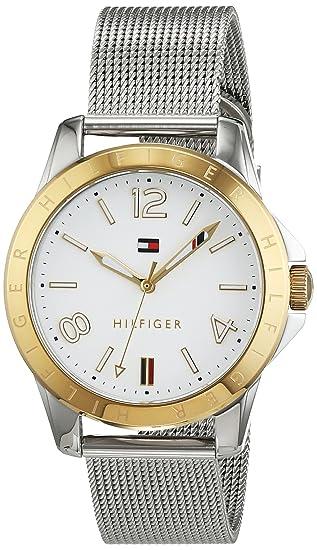 Reloj analógico para mujer Tommy Hilfiger 1781677, mecanismo de cuarzo, diseño clásico, correa de acero inoxidable.: Amazon.es: Relojes