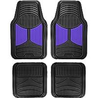 $24 » FH Group F11313BLUE Indigo Blue Rubber Floor Mats Universal Fit (Blue Indigo Color Full Set…