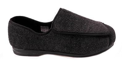 Zapatos ortopédicos para hombre con amplitud EEE, ajustables, color Gris, talla 45 EU