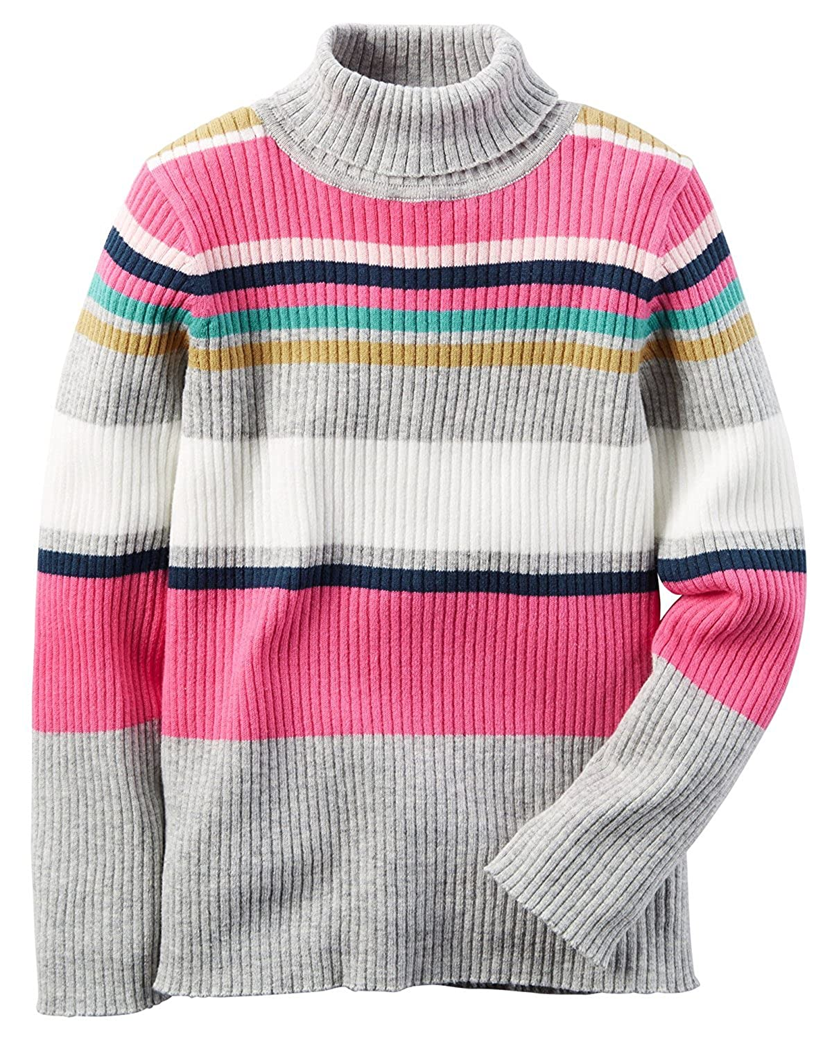Carters Baby Girls Striped Turtleneck Sweater 24m Pink
