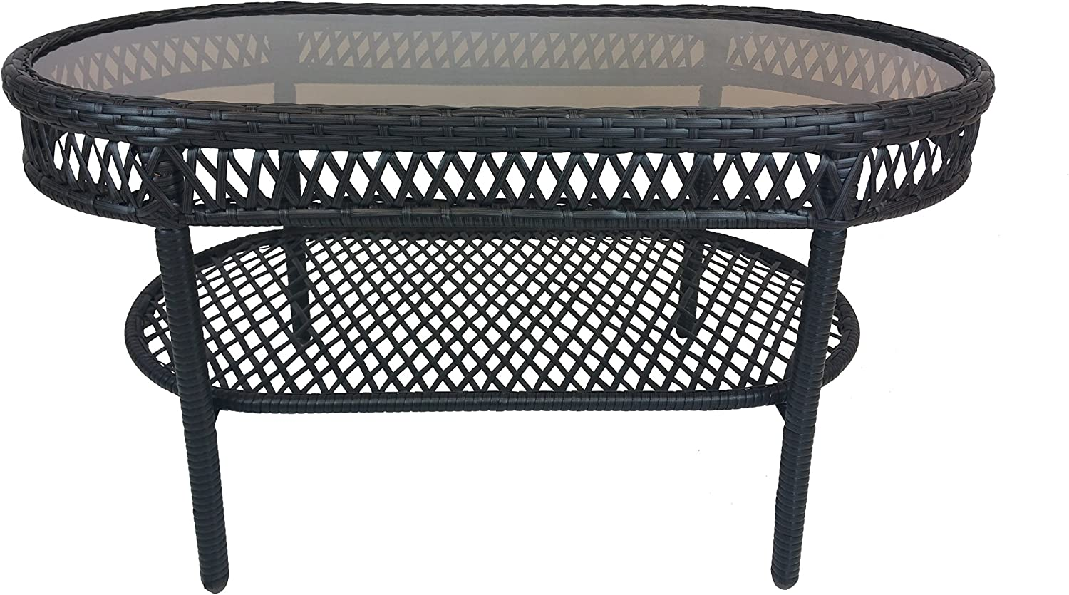Oakland Living Elite Resin Wicker Coffee Table, 37.5 by 20-Inch : Garden & Outdoor