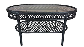 Oakland Living Elite Resin Wicker Coffee Table, 37.5 By 20 Inch