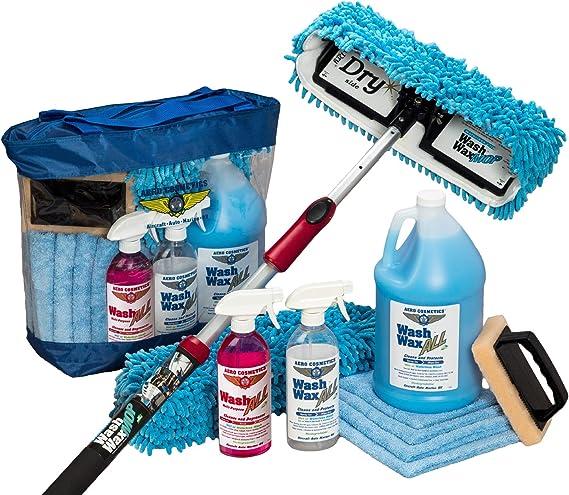 Aero Cosmetics Waterless RV Aircraft Boat Wash Wax Mop Kit