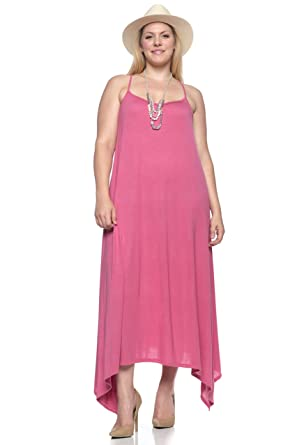 Hot Ginger Womens Plus Size Long Tank Top Dress At Amazon Womens