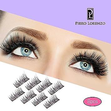 8x Magnetic Eyelashes Glue-free 3D Reusable Dual Magnet Premium Quality Natural Look Best False