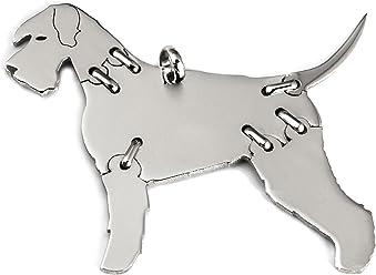 SCHNAUZER Hunde Tier-Anhänger Medium 925 Sterling Silber Charm Schmuck 075CM